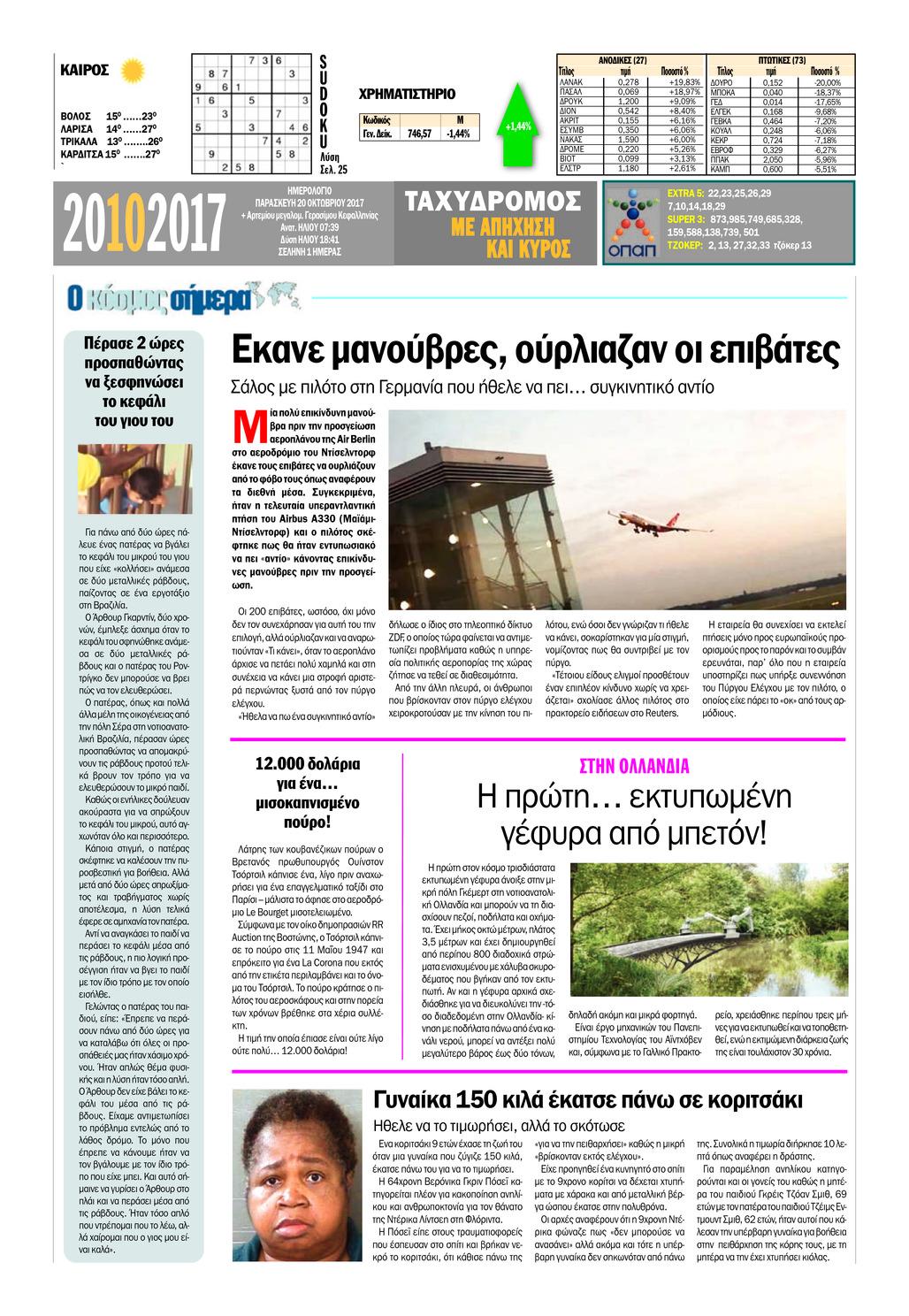 Οπισθόφυλλο εφημερίδας ��������������������