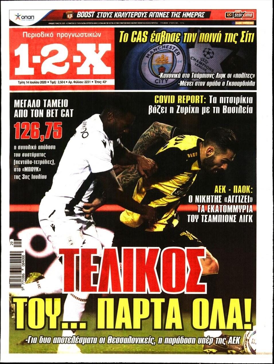 Πρωτοσέλιδο εφημερίδας 12x
