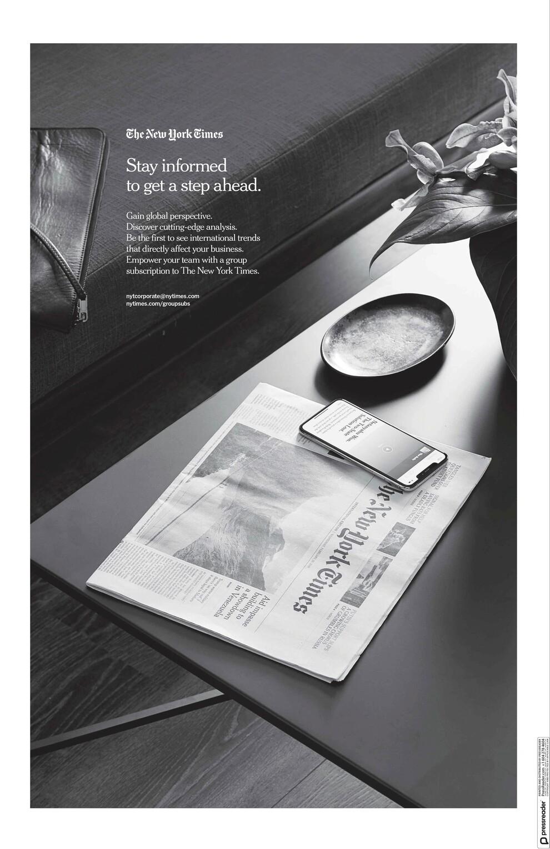 Οπισθόφυλλο εφημερίδας ΚαΘημερινή Αγγλική